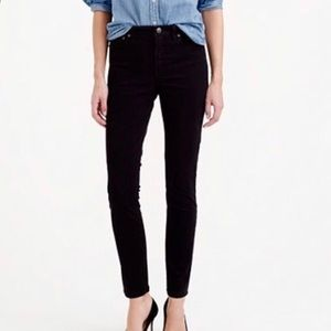 J. Crew Lookout High Rise Sateen Pant in Black